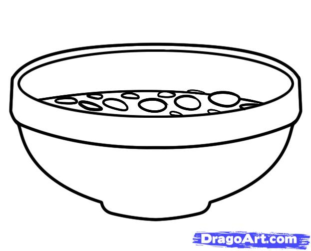 Drawn spoon cereal Free Step Art Sheets Drawing