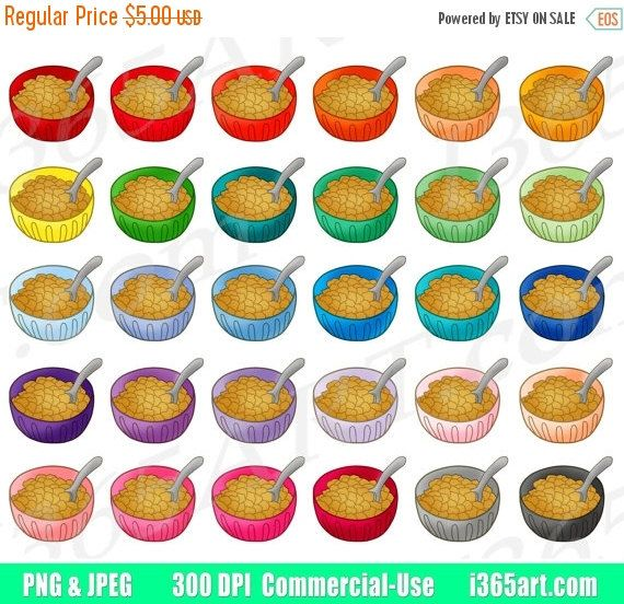 Cereal clipart rainbow Clip 634 Clipart Sticker Of