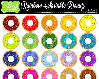 Cereal clipart rainbow Rainbow OFF clipart Donuts Breakfast