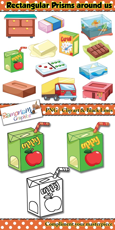 Cereal clipart rectangular prism Shapes art 3D Math resources