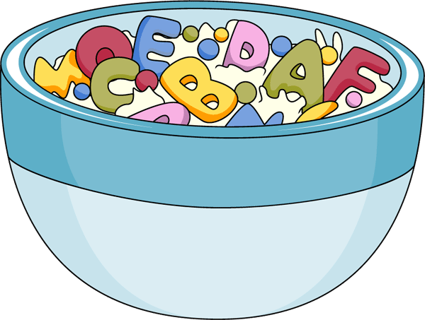 Cereal clipart transparent Cereal Foods Bowl Art Alphabet