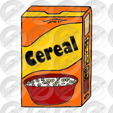 Cereal clipart yellow Cereal cereal Clip Classroom Picture