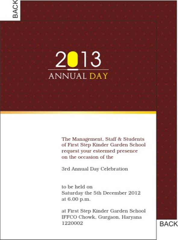 Ceremony clipart school annual day Annual School day invitation annual