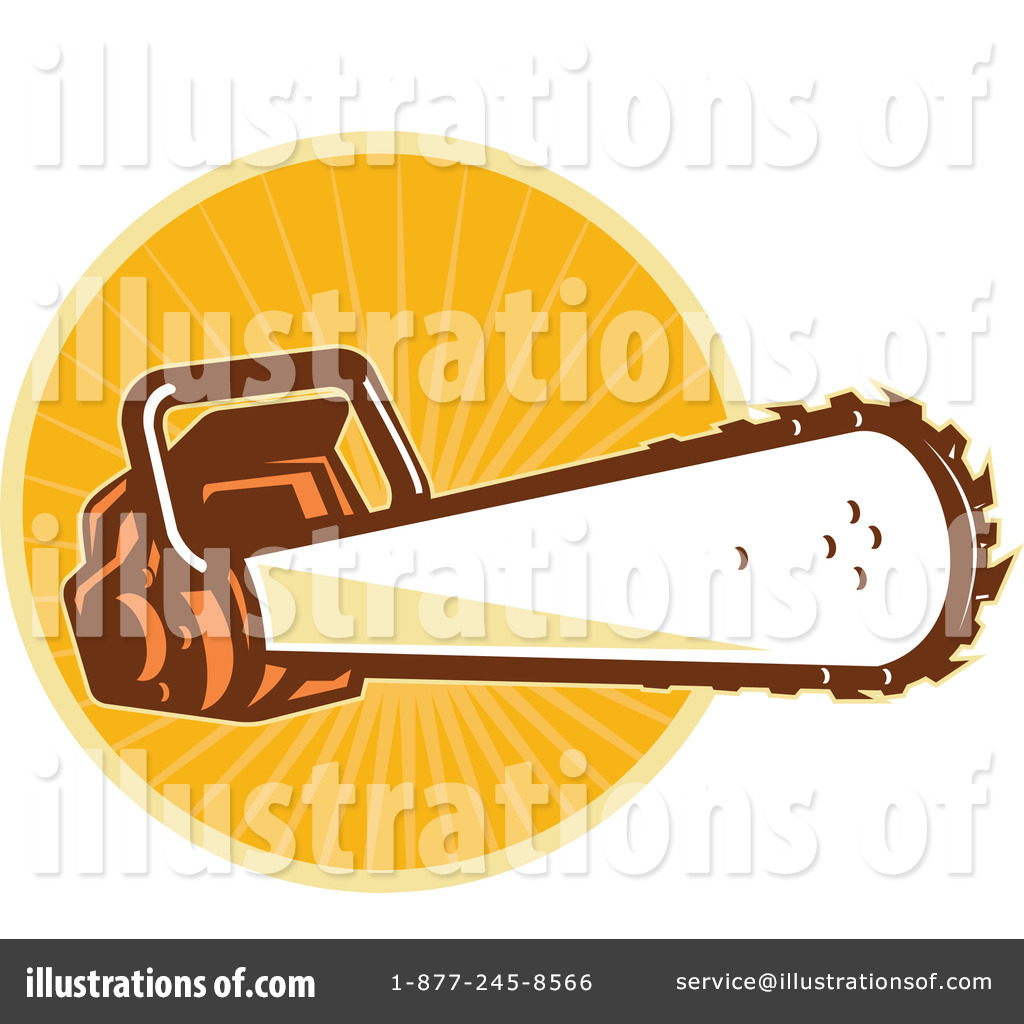 Chainsaw clipart carpenter tool Royalty by patrimonio (RF) #1077600