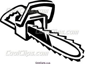 Chainsaw clipart #9