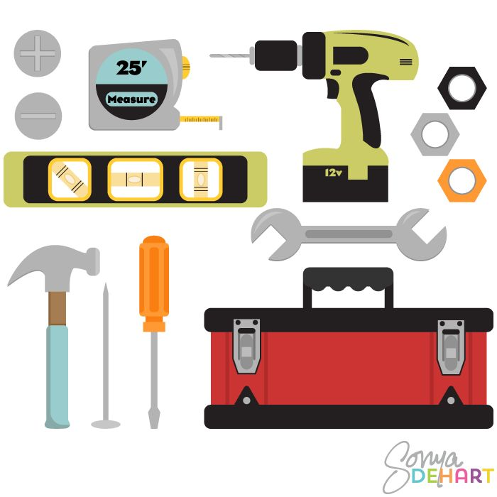 Chainsaw clipart carpentry tool Vectors Svg carpentry tools Clipart
