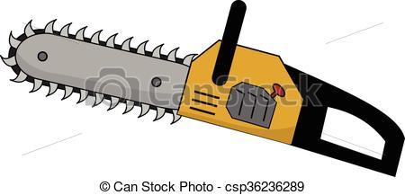 Chainsaw clipart cartoon Yellow a a Yellow chainsaw