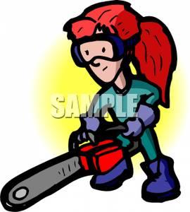 Chainsaw clipart cartoon Image: Clip a Chainsaw a