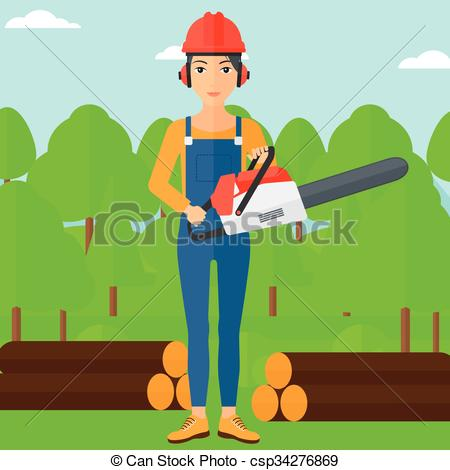 Chainsaw clipart lumberjack #4