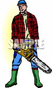 Chainsaw clipart lumberjack #5