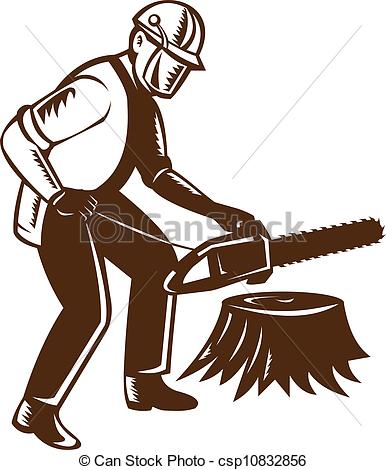 Chainsaw clipart lumberjack #8