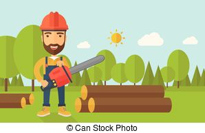 Chainsaw clipart lumberjack #9