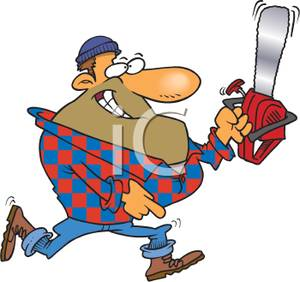 Chainsaw clipart lumberjack #2