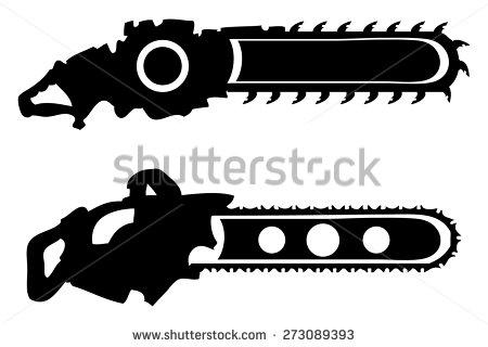 Chainsaw clipart silhouette Vectors Chainsaw Clip Vectors Stock