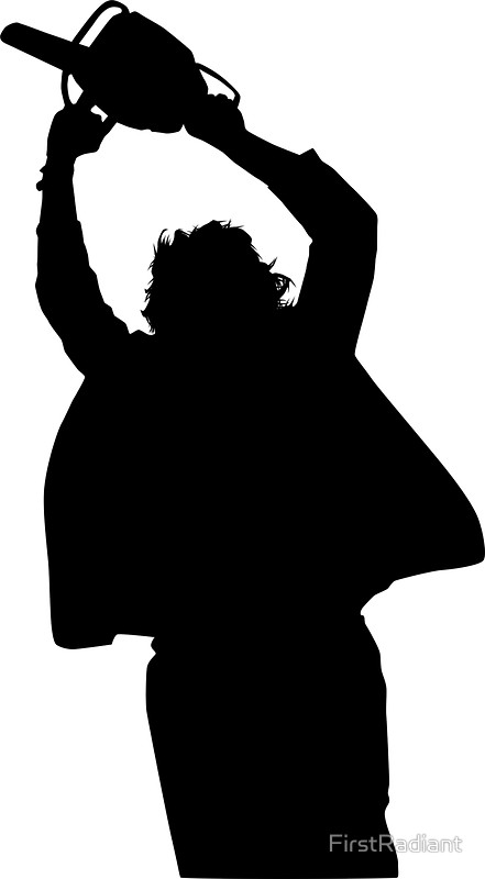 Chainsaw clipart silhouette Silhouette Stickers FirstRadiant massacre Chainsaw
