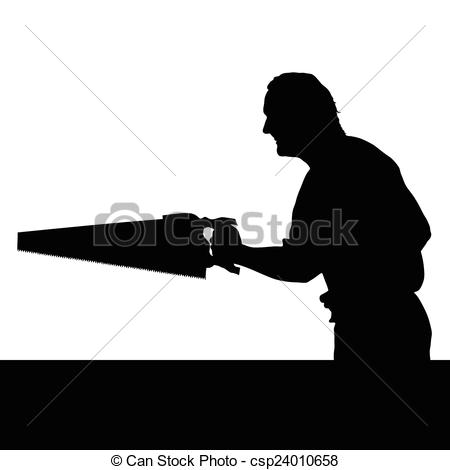 Chainsaw clipart silhouette With man with chainsaw man
