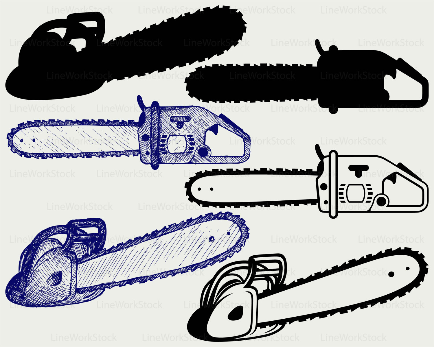 Chainsaw clipart silhouette A clipart  svg is