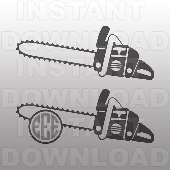 Chainsaw clipart silhouette Logging SVG by art Clip