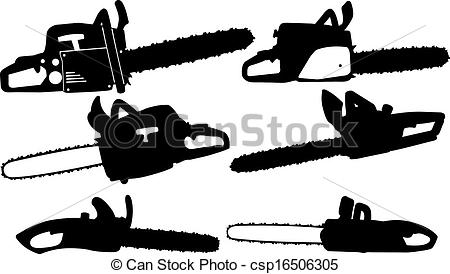 Chainsaw clipart silhouette Vector different  chainsaw Vector