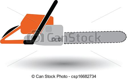 Chainsaw clipart simple  of isolated chainsaw vector