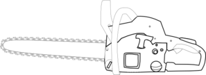 Chainsaw clipart simple At Clip Chainsaw White Clker