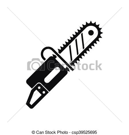 Chainsaw clipart simple Icon simple csp39525695 icon in