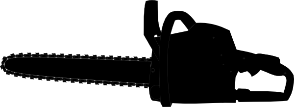 Chainsaw clipart simple Chain clip vector Black Saw
