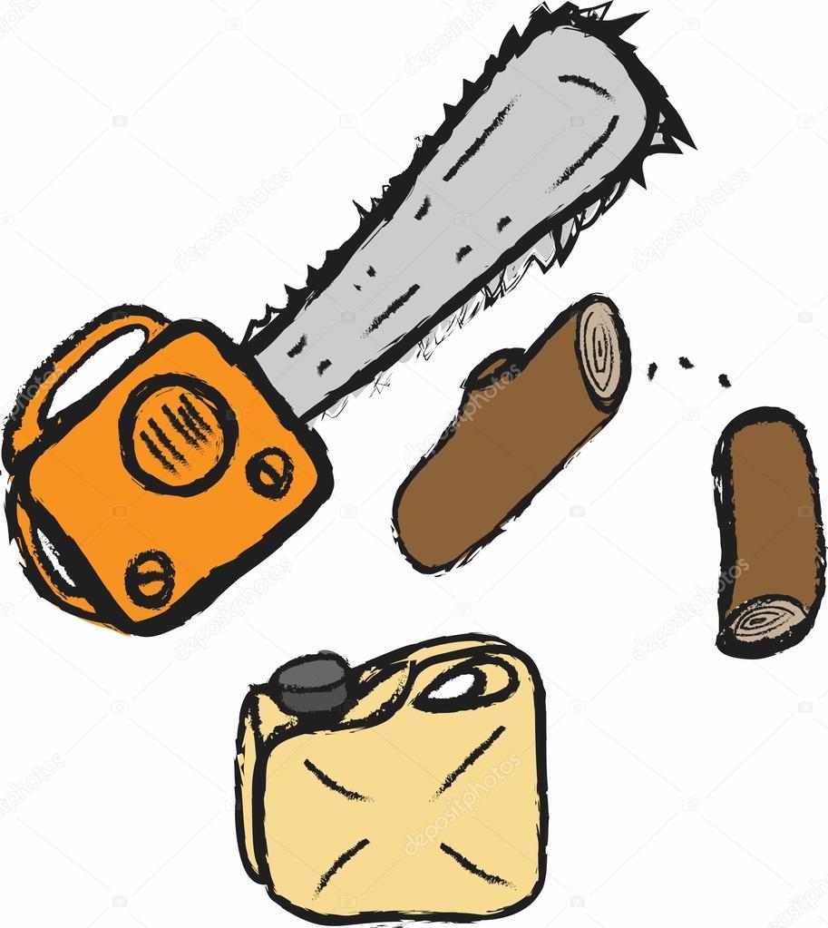 Chainsaw clipart simple © Stock Cartoon chainsaw dusan964