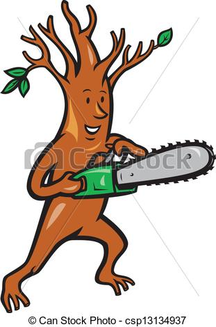 Chainsaw clipart tree cutter Arborist Man Chainsaw Man Arborist