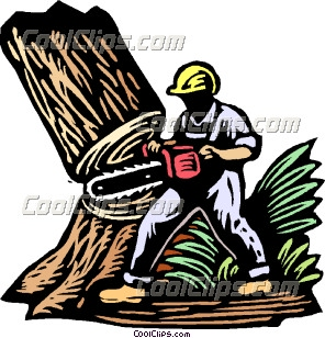 Chainsaw clipart tree cutter Down Collection Clip cutting Cn'r