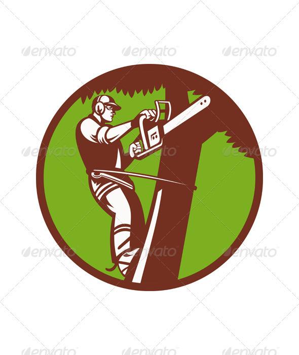 Climbing Tree clipart Of Pruner A Tree Pruner