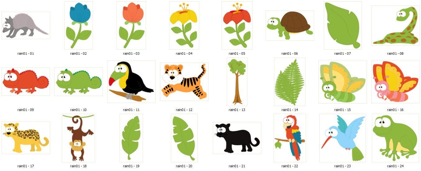 Toucanet clipart rainforest monkey #15