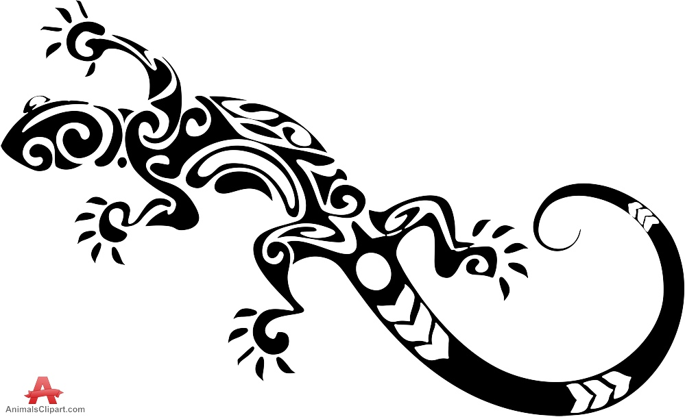 Drawn reptile tribal Clipart keywords with Tribal Tattoo