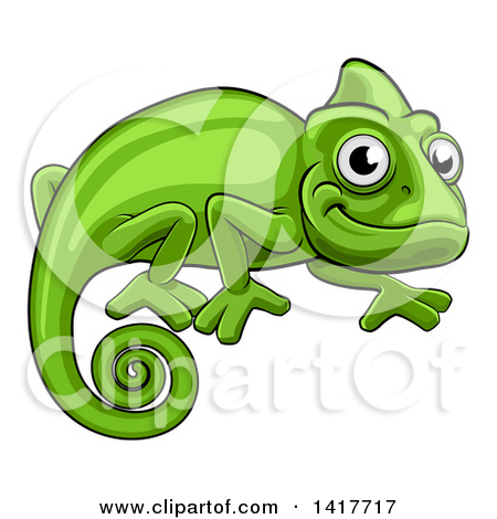 Reptile clipart chameleon #7