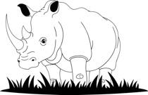 Rhino clipart land animal #13