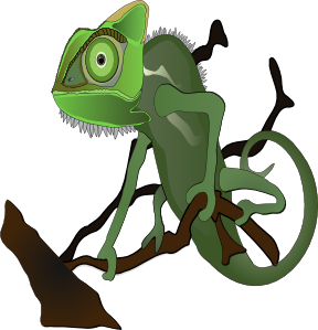 Reptile clipart chameleon #3