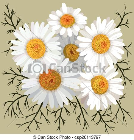 Camomile clipart potted plant Of of  isolated Illustration