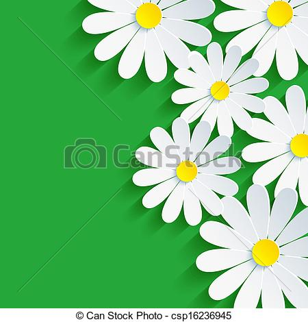 Camomile clipart spring background Chamomile EPS flower abstract spring