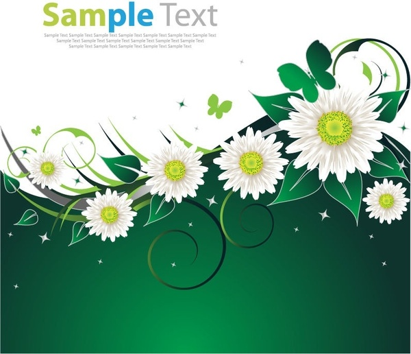 Camomile clipart spring background Green art (211  Free
