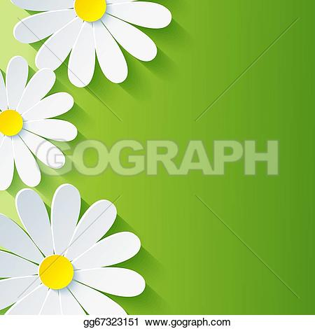 Camomile clipart spring background 3d Spring background  3d