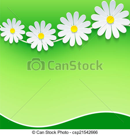 Camomile clipart small With with  spring place