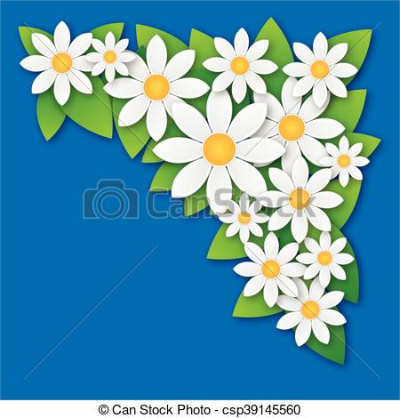 Camomile clipart spring background Spring Vector spring abstract chamomile