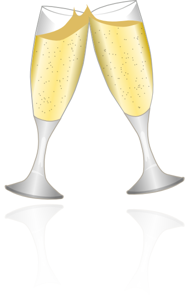 Champagne clipart animated Glasses at as: Clker Download