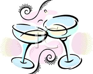 Champagne clipart animated Art Glasses Glasses Clip Two