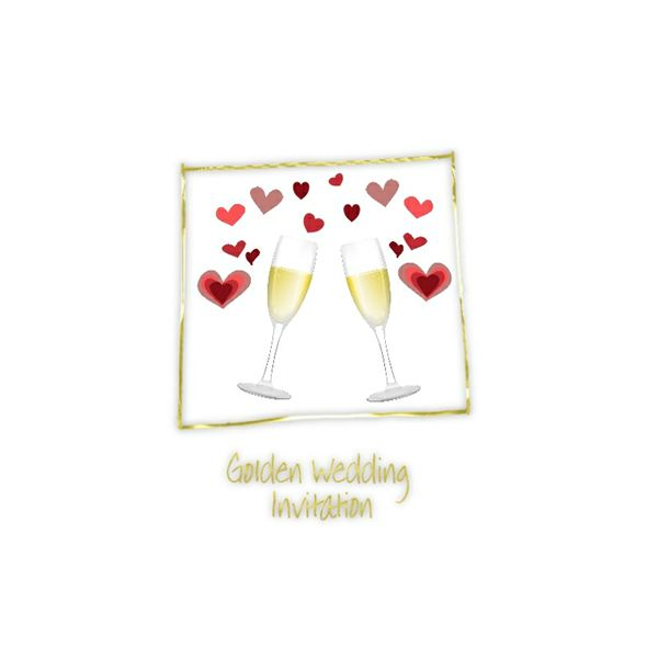 Champagne clipart anniversary 50annivglasses Wedding Printable 50th Free