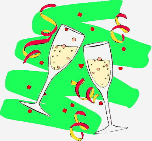 Champagne clipart anniversary Champagne_glasses_4 The png Maker Card