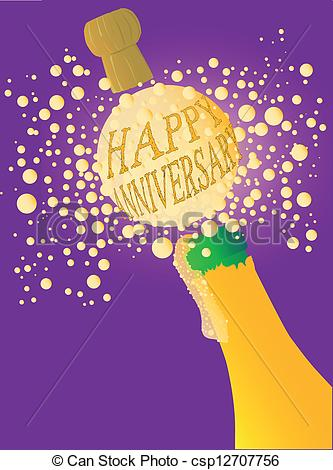 Champagne clipart anniversary  Champagne Happy bottle Champagne