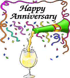 Champagne clipart anniversary Clip Pictures Free Happy Anniversary