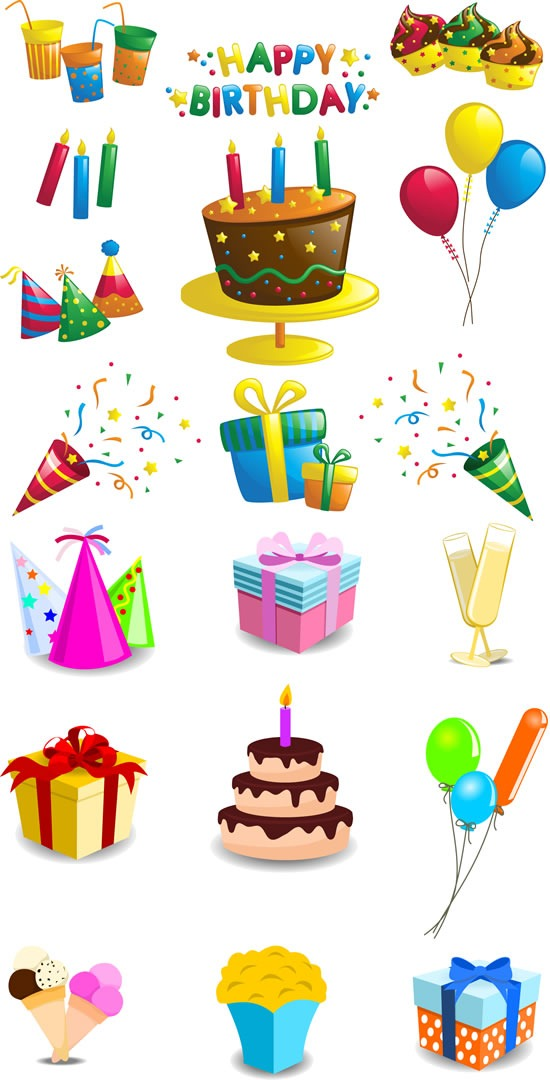 Champagne clipart birthday cake Graphics vector Happy Cake Champagne