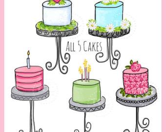 Champagne clipart birthday cake Clip art 5 art set